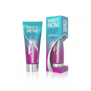 mentadent white now glossy chic